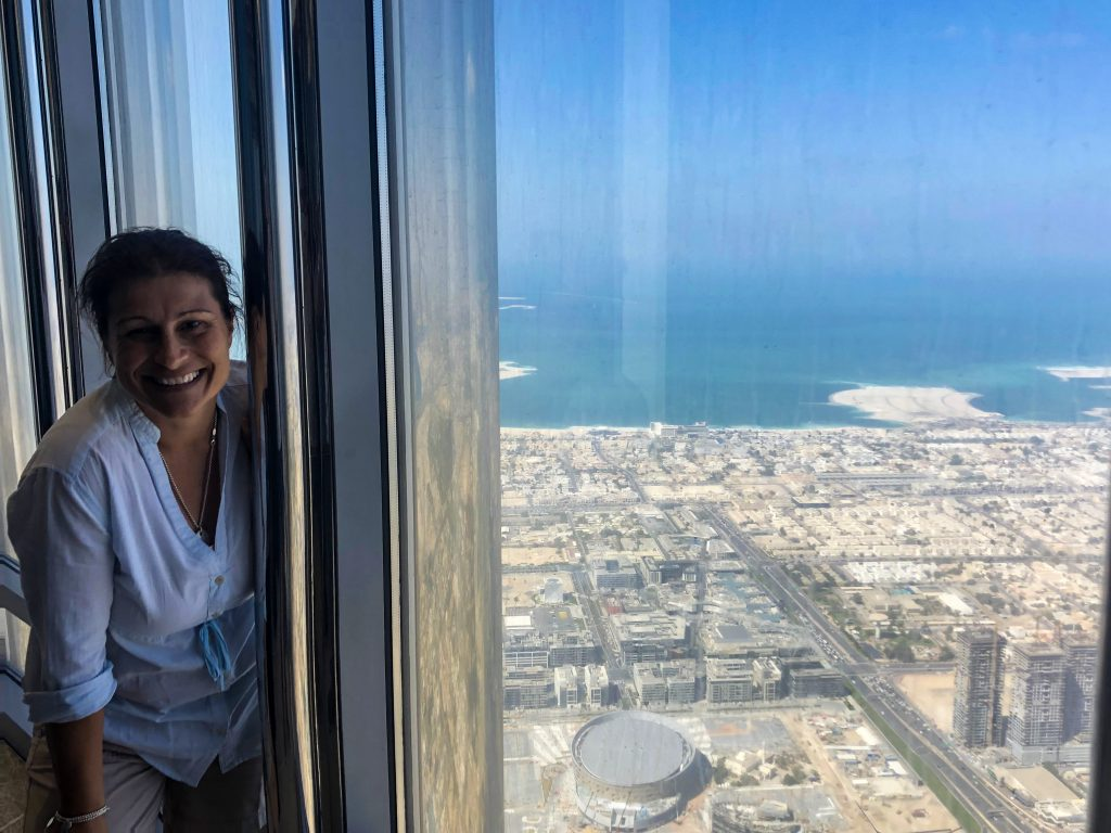 The view from the 154th Floor Burj Khalifa