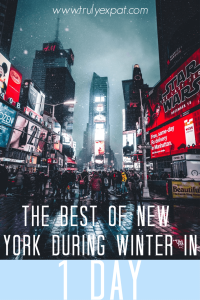 the best of new york during winter in 1 day