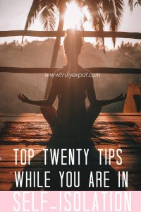 Top twenty things to do during isolation