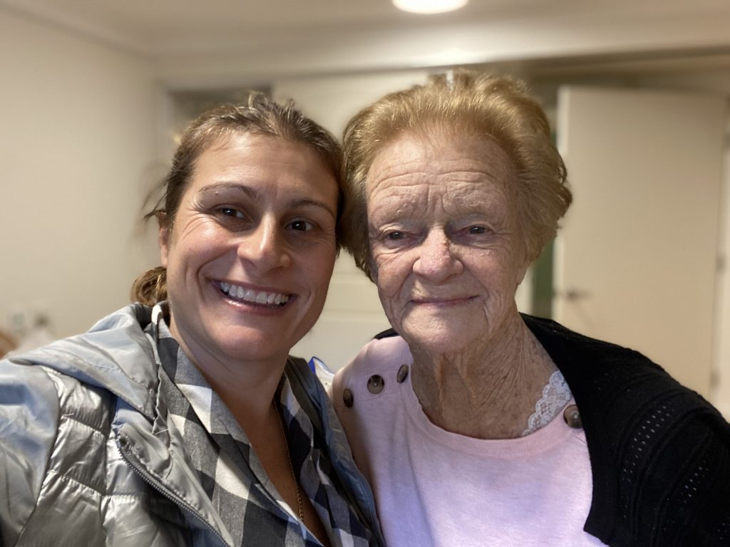 spending time with the elderly