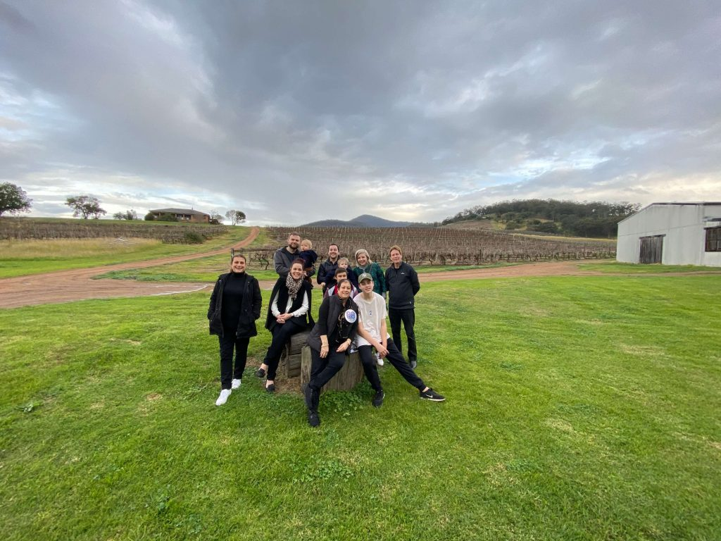 Family in the hunter valley