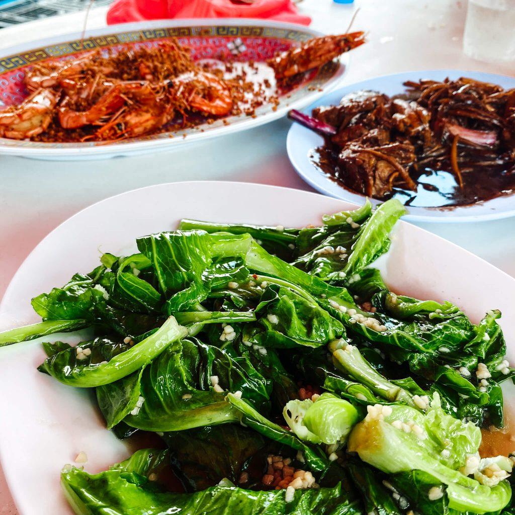 eating in pulau ubin