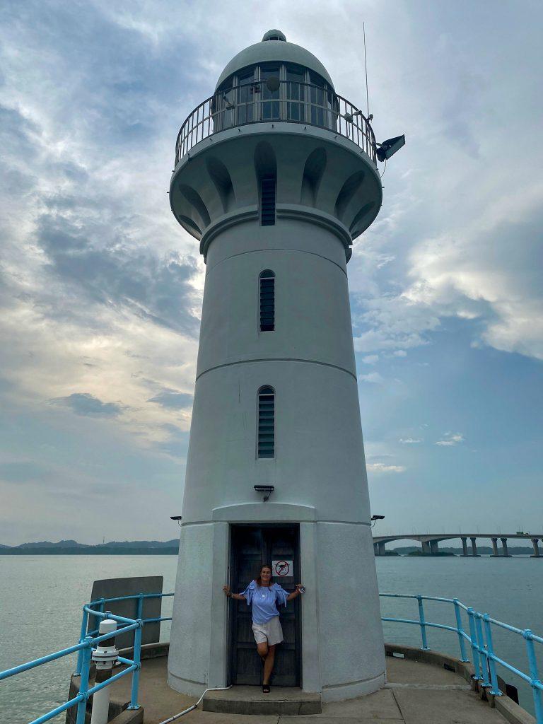 Raffles marina light house