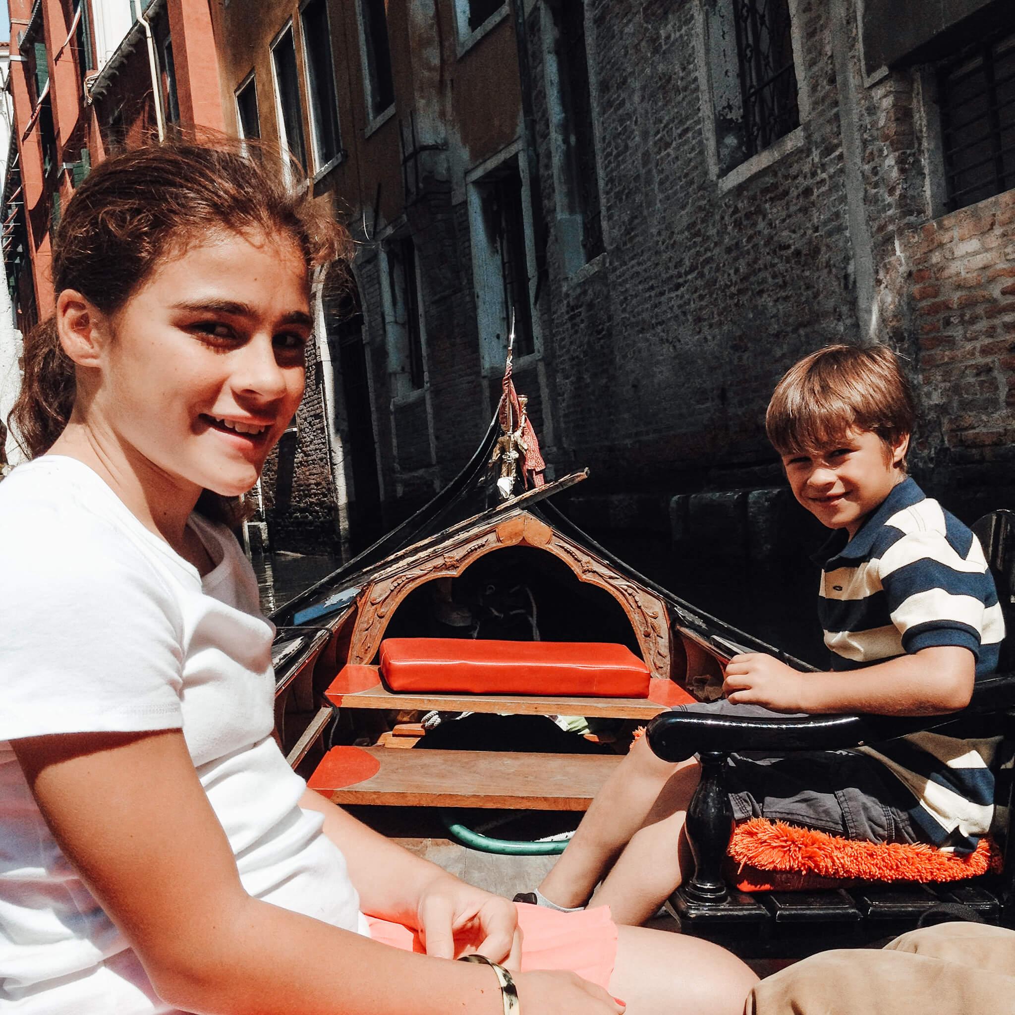 Gondola ride Venice Northern Italy